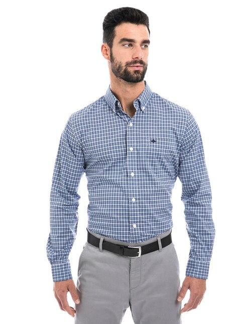 903a43933b Camisa casual Dockers corte regular fit azul a cuadros