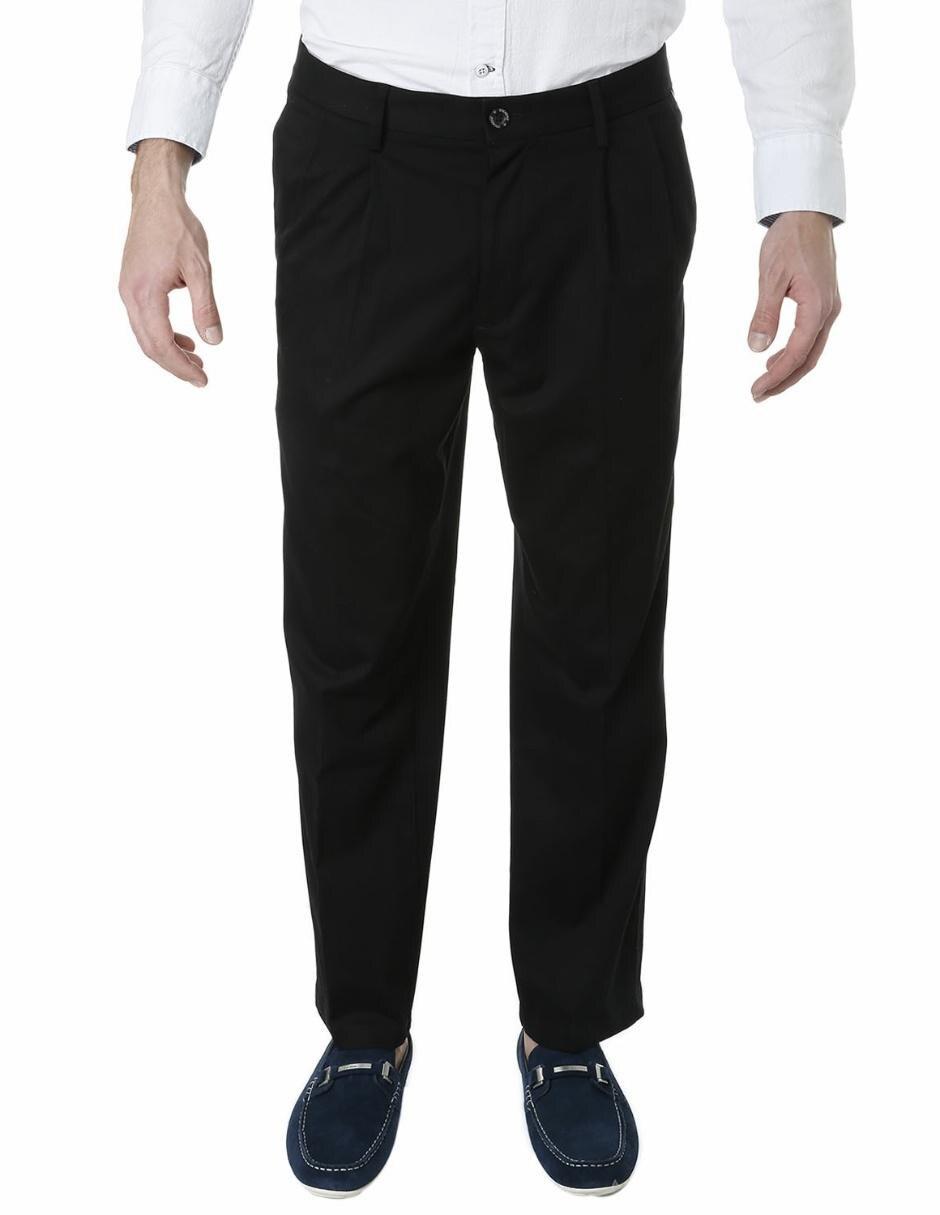 c05c60c67 Pantalón de vestir Dockers corte recto algodón negro Precio Lista