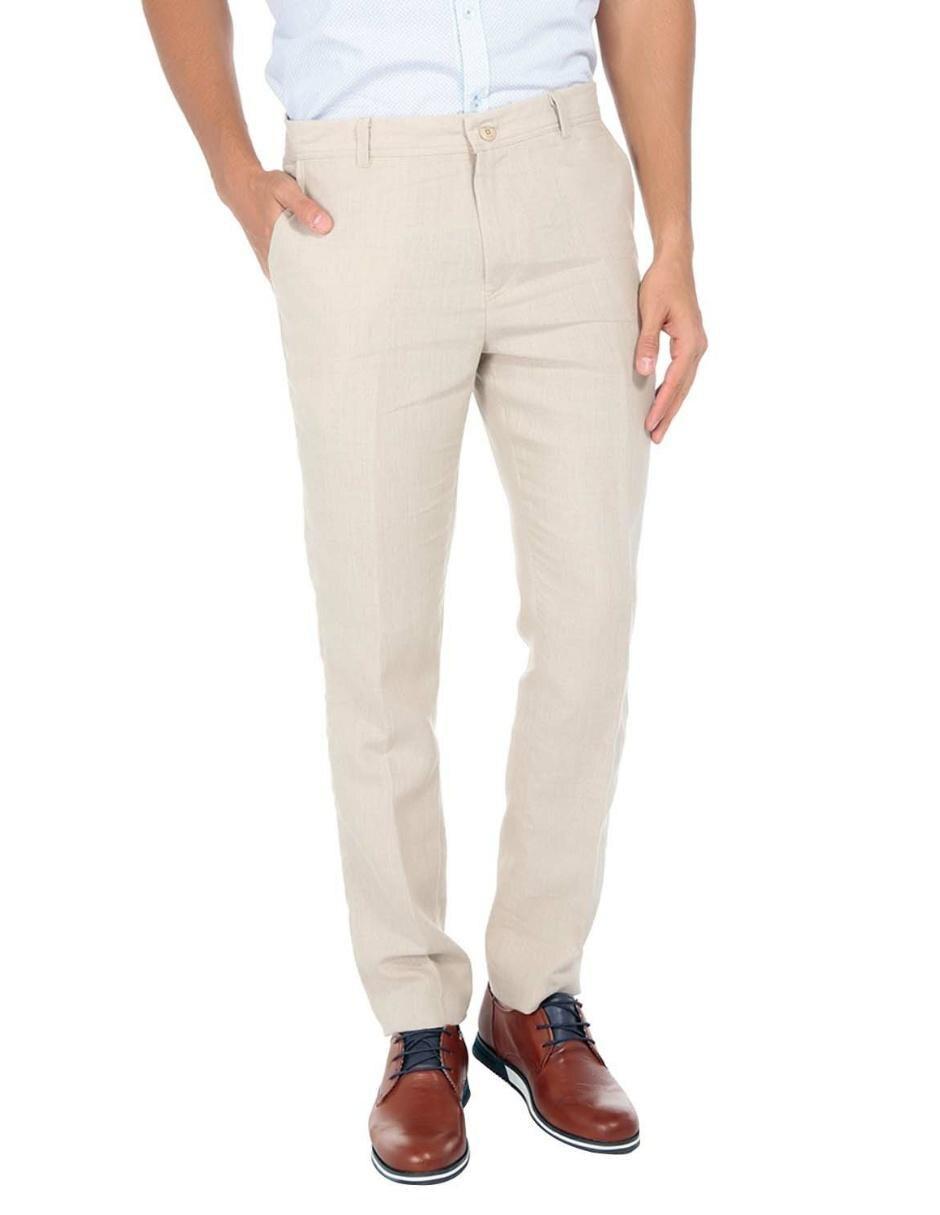 Pantalon De Vestir Abito Corte Regular Lino En Liverpool